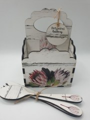 DRY PROTEA - SCALLOP 4DIV CADDY Incl cutlery - R145