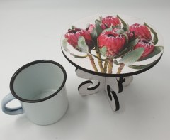 DUTCHESS BUNCH PROTEA - MINI CAKE STAND Also as larg stand