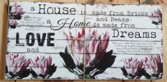 PINK PROTEA - HOUSE LOVE DREAMS - WOOD TR