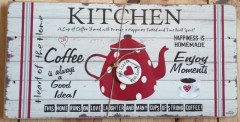 RED TEAPOT - KITCHEN - WOOD TABLE RUNNER9