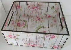 SHABBY ROSE - CRATE - STORAGE