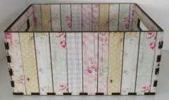 SHABBY YELLOW MULTI STRIPES - CRATE