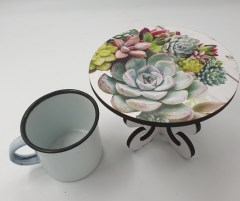 SUCCULENTS BUNCH - MINI CAKE STAND Also as lrg stand
